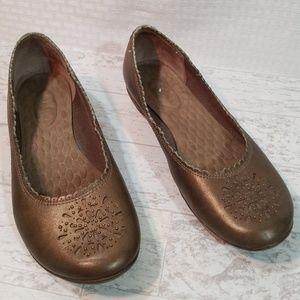 Privo Bronze Leather Flats Studded Die-cut Sz 7M